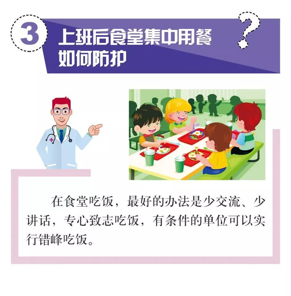 普通人日常防护需要戴手套吗?上班后食堂集中用餐如何防护?你关心的问题,都在这里了!